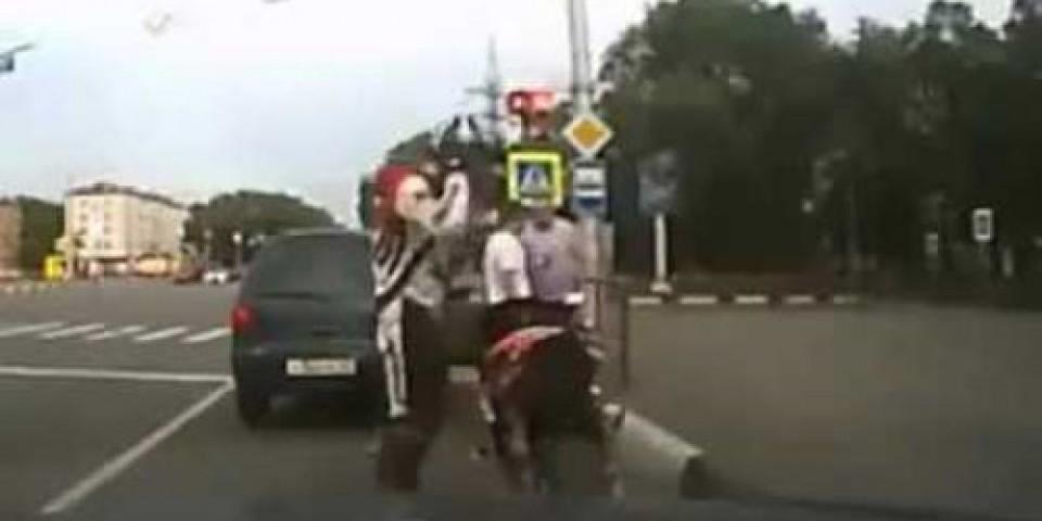 Biker Accident – Biker Strikes Back!