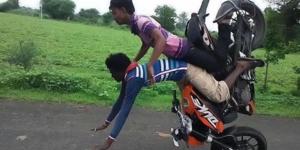Crazy Bike Accident