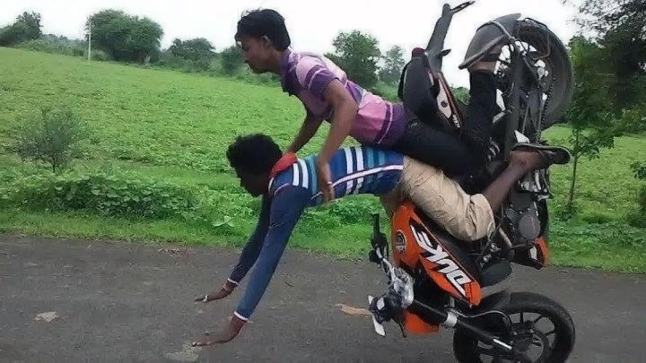 Crazy Bike Accident
