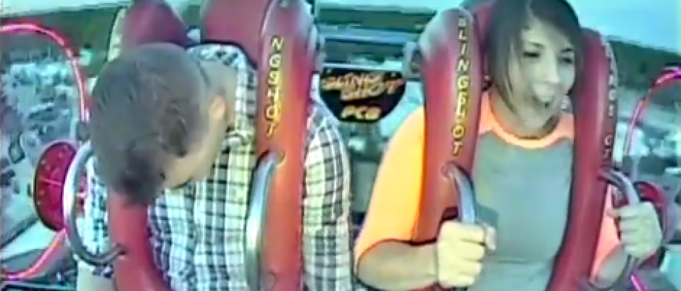 Brave Man in Amusement Park