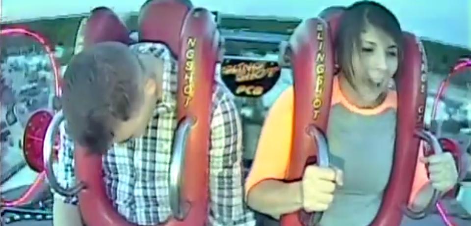Brave Man in Amusement Park